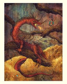Smaug 8x10 Print by angelarizza on Etsy, $15.00