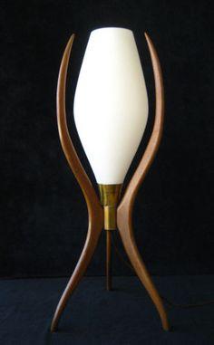Teak Table Lamp | Mid Century
