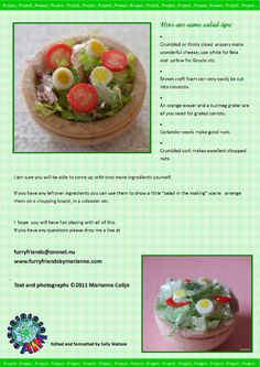 how to: miniature green salad