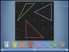 Virtual Geoboards Save the Day - I used this app to teach geometry this week.
