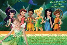 Convite digital personalizado Fadas Disney com foto 019