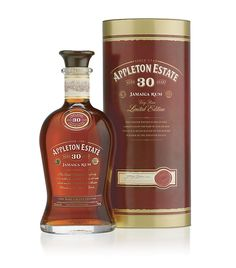 Appleton Estate Limited Edition 30 Year Old Rum [The palate is restrained and elegant, very much like a fine cognac, the alcohol is beautifully integrated and is balanced by flavours of toffee, oak, and vanilla.]
