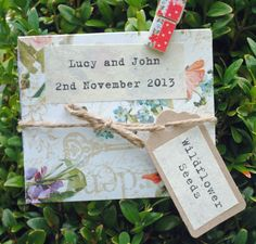 Wildflower Seed Personalised Wedding Favours Light £1.85