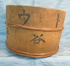 Antique Japanese wooden bucket