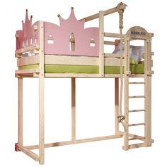 Kinderbett (Mädchen: Prinzessin) Lilly - lit Château princesse WOODLAND - Meubles pour enfants