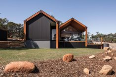 Lurie Concepts specialises in designing bespoke environmentally-friendly homes and renovations for clients throughout the South West and Perth. Sustainable Building Design, Diy Shed Kits, House Cladding, Modern Barn House, Shed Homes, Kit Homes, Modern Farmhouse Exterior, Concept Home, Building A House