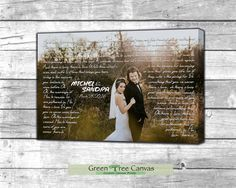 Personalized canvas wedding gifts