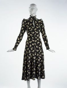 #Maxi #dress with an Art Deco print by Biba. England, 1973 l Victoria and Albert Museum