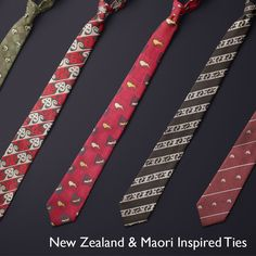 Presents For Him, Gifts For Him, Pocket Handkerchief, Tie Matching, Maori Designs, Perfect Gift For Him, Tie Set, Print Logo, New Zealand