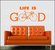 VINYL Life is Good Bicycle by QUOTESandQUIPS on Etsy, $12.99