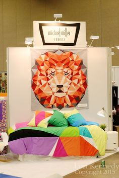 """""""Jungle Abstractions"""" by Violet Craft, Michael Miller Fabrics.  Spring 2015 Quilt Market.  Photo by The Inbox Jaunt."""