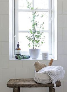 Pflanzen im badezimmer Pflanzen im badezimmer Bathroom Windows, Bathroom Plants, Bathroom Interior, Decoration Inspiration, Bathroom Inspiration, Interior Inspiration, Decor Ideas, Interior Ideas, Interior Decorating