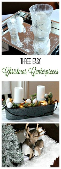 Easy DIY Christmas Centerpieces that you will add to the festivity of your Holiday Party this year and boost your home decor! Inexpensive Christmas Gifts, Simple Christmas, Christmas Crafts, Christmas Decorations, Christmas Recipes, Diy Home Decor Easy, Easy Diy Crafts, Anna, Décor Antique