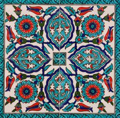 I love the color palette on Turkish tiles...definitely inspires many ideas.