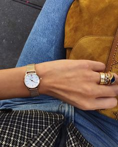 Give your look effortless movie-star charm with a touch of contemporary minimalism in rose gold mesh. Negin Mirsalehi, Gold Watch, Movie Stars, Rolex Watches, Jewerly, Mesh, Photo And Video, Instagram Posts, How To Wear