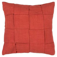 Add texture and dimension to your home decor with the Jaipur Tabby Handmade Cotton Pillow. Simple yet sophisticated, this decorative pillow boasts a solid-colored exterior with a chunky woven design. The accent pillows are finished with a polystyrene bead filling that conform to your body or head for maximum comfort. Choose from an array of bright and neutral colors to coordinate with your decor.
