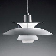 Poul Henningsen's PH lamp. Danish design. Still one of the best designs I've seen; beautifull shape and superb spreading of the light