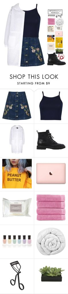 """""""stay true to yourself 💙"""" by lanadelnotyou ❤ liked on Polyvore featuring Topshop, Giuseppe Zanotti, Korres, Izod, Deborah Lippmann, Brinkhaus, Surratt, Lux-Art Silks and FOSSIL"""
