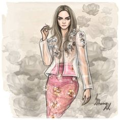 Illustration.Files: Burberry Prorsum S/S 2014 by Shamekh