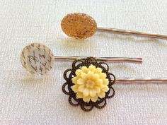 Hair Pins Set of 3 Hair Pins Vintage Hair by PrincessBarrettes $4.00