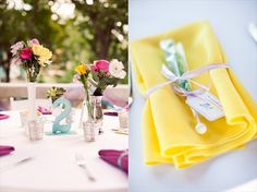 fun bright and colorful whimsical wedding
