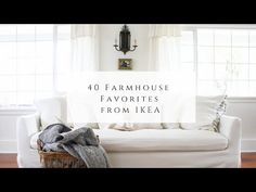 40 Farmhouse Favorites From Ikea Vintage Farmhouse, Farmhouse Style, Pillow Room, Linen Sheets, Wooden Hangers, Kitchen Cabinetry, Storage Boxes, Rustic Style, Slipcovers