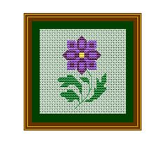 Purple Flower Pattern PDF Instant Download. Counted Cross Stitch Pattern. Nature. Flower. Floral Cross Stitch Pattern. Wall Decor.