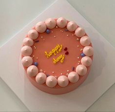 Pretty Birthday Cakes, Pretty Cakes, Cake Birthday, Mini Cakes, Cupcake Cakes, Frog Cakes, Simple Cake Designs, Korean Cake, Pastel Cakes