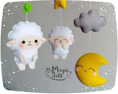 ✂ MAKING TIME is 6 weeks ✈ Delivery time is 2-4 weeks depending on your location Includes: - sheep - 4 pcs - cloud - 3 pcs - star - 2 pcs - moon - 1 pcs - small leaves • • • • ● ● ● ADD-ONS FOR BABY MOBILE ● ● ● • • • • ATTACHMENT ARM for baby mobile -