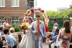 21 Unique Ceremony Ideas for Your Wedding (via Emmaline Bride) - decorative wedding ceremony arch, photo by Izzy Hudgins