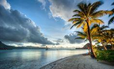 Hay un lugar que te espera un lugar que ni soñaste conocer y tan solo una cosa has de hacer... vivir cada día que pasa más te acercas a él -------------------------------- #borabora #playa #beach #mar #sea #oceano #ocean #palms #palmeras #arena #sand #nubes #clouds #paisaje #seascape