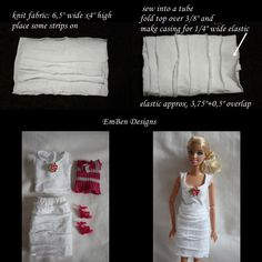 barbie white dress tutorial