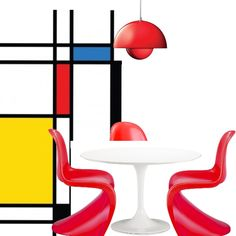RETRO  RED DINING.  Follow the link to find these items for sale.