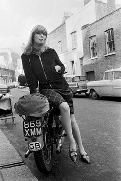 Nico on a motorbike, 1964.