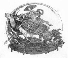 Franz von Bayros Ex libris Nikolaus Schindler Hi Rez, In The Flesh, Erotic, Beast, Vintage World Maps, Drawings, Artist, Image, Books