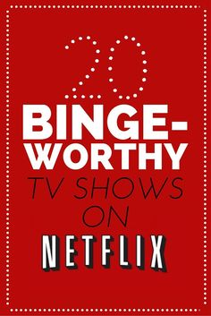 20 BINGE-WORTHY NETFLIX SERIES Mad in Crafts - - I have put together a list of what I believe are the most binge-worthy Netflix series (currently. please don't get rid of any of these shows, Netflix). Best Series On Netflix, Netflix Movies To Watch, Netflix Tv Shows, Movies And Tv Shows, Netflix Suggestions, Netflix Recommendations, Book Suggestions, Apple Tv, Netflix Hacks