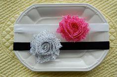Baby Flower Headband  Baby Girl Headband  Shabby by EllieAndLiv, $8.00