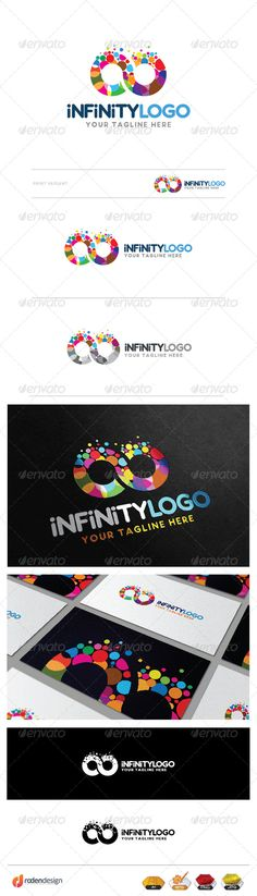 Infinity Logo: Abstract Logo Design Template created by rodendushi. Letterhead Template, Logo Design Template, Logo Templates, Elegant Business Cards, Cool Business Cards, Unique Logo, Cool Logo, Branding, Infinite Logo