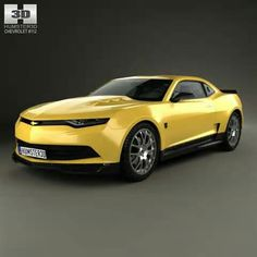 Chevrolet Camaro Bumblebee 2014 by The model was created on real car base. It's created accurately, in real units of measurement, qualitatively and maximally clos Car Chevrolet, Chevrolet Camaro, Corvette, Camaro Concept, Car 3d Model, Nissan 300zx, Modelos 3d, Porsche Boxster, Porsche Cars