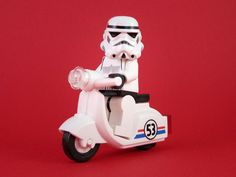 Image detail for -Stormtrooper on vespa, so what? Lego Star Wars, Star Wars Art, Starwars, Lego Stormtrooper, Super Troopers, Minions, Lego Toys, Lego Worlds, Lego Photography