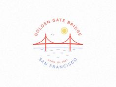Golden gate bridge by David Hultin Bridge Tattoo, Bridge Logo, Viking Rune Tattoo, Viking Runes, Riverside California, California Logo, Bridge Drawing, Typo Logo, Typography