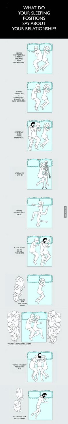 What do your sleeping positions say about your relationship?