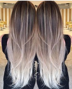 Im obsessed with this balayage done by 😍 if only I had long hair like this to play with color 😩 Ombré Hair, Hair Day, Grey Balayage, Balayage Long Hair, Haircut Trends 2017, Baliage Hair, Baylage, Ombre Bayalage, Diy Ombre Hair
