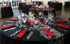 Amazing Red And Black Table Settings Images - Best Image Engine . & Amazing Black And Red Table Settings Images - Best Image Engine ...