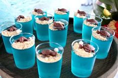 Chocolate turtle-topped jello cups from a Moana Birthday Party on Kara's Party Ideas | KarasPartyIdeas.com (16)