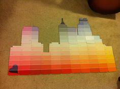 paint swatch art | Raleigh skyline