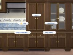 Mod The Sims - Fitted Country Kitchen Cupboard