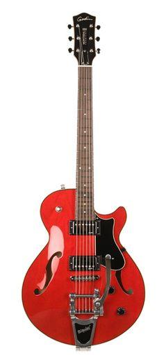 Godin Guitars Signature Series Montreal Premiere w Bigsby Trans Red