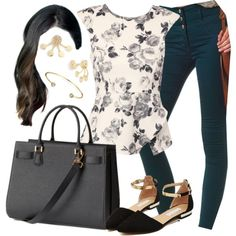 Melissa Hastings inspired spring outfit by liarsstyle on Polyvore featuring polyvore, fashion, style, Jane Norman, Charlotte Russe, H&M, Bling Jewelry, Work, college and mid