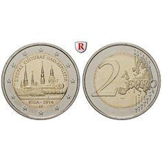 Lettland, 2 Euro 2014, bfr.: Kupfer-Nickel-2 Euro 2014. Riga - Kulturhauptstadt 2014. bankfrisch 5,00€ #coins